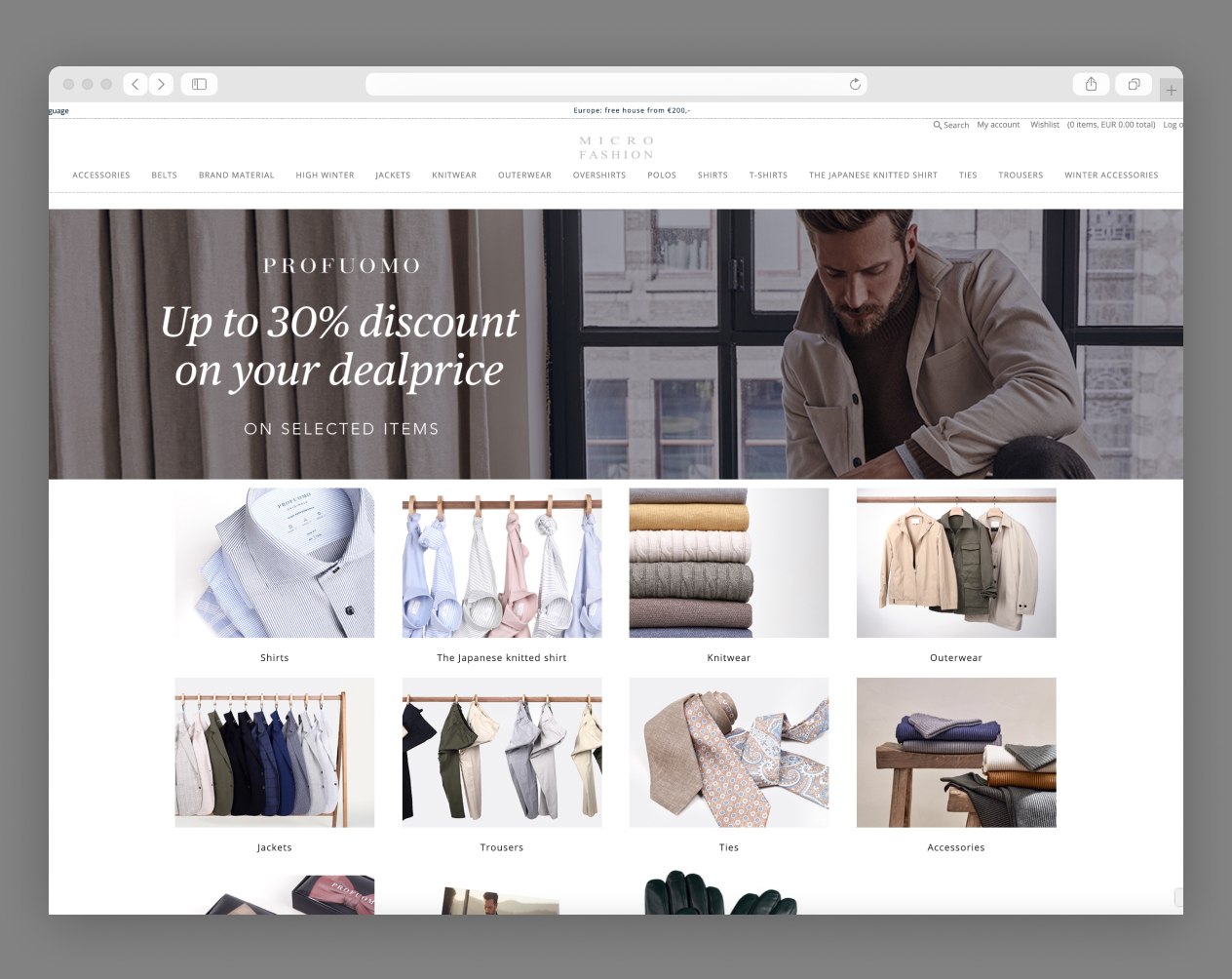 colect online b2b store