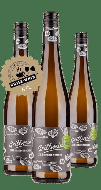 2018 Angebot: 6 Flaschen Grill Wein - Riesling trocken