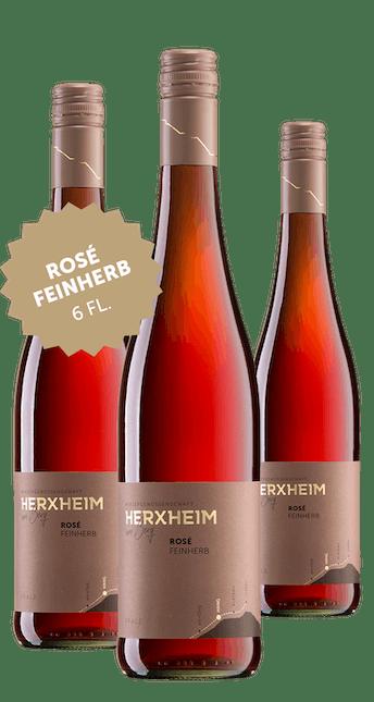 2019 Angebot: 6 Flaschen Rosé feinherb