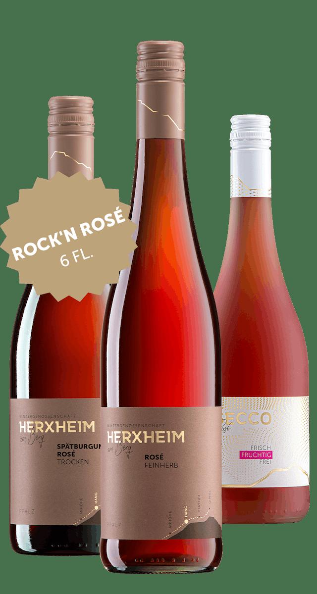 6 Flaschen Rock`n Rosé