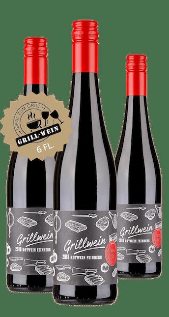 2018 Angebot: 6 Flaschen Grill Wein - Rotwein feinherb