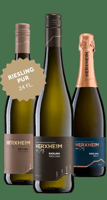 24 Flaschen Riesling Pur