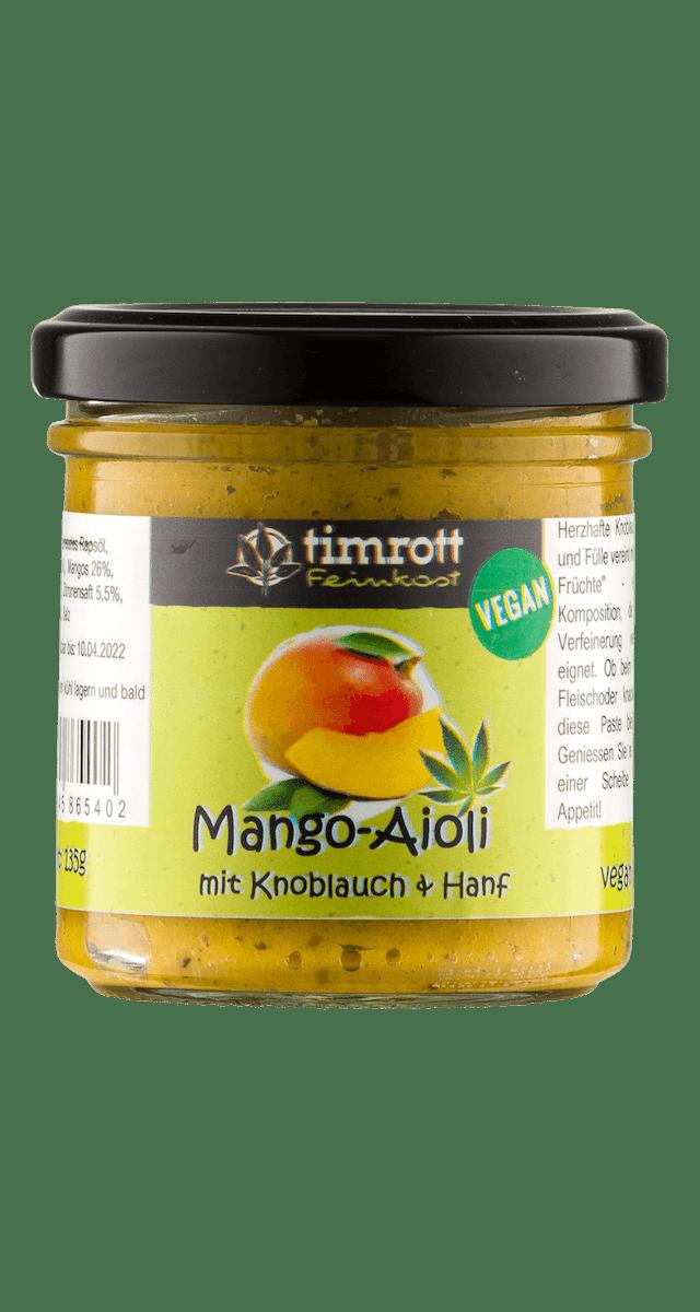 Aioli Mango mit Hanf  I vegan